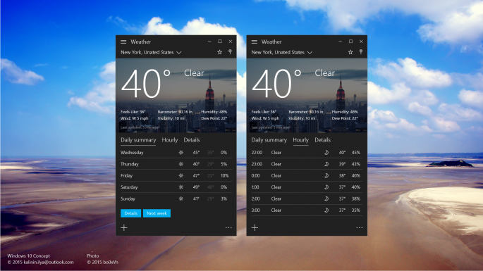Windows 10 UI concept (2.5)